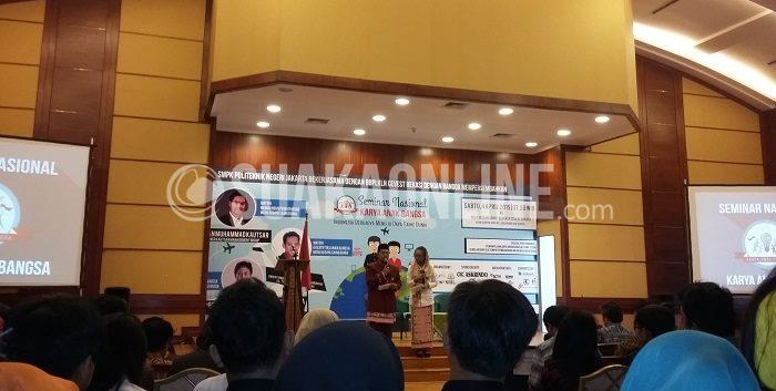 Acara kegiatan Seminar Nasional Karya Anak Bangsa 2015 yang bertempat di gedung BBPP