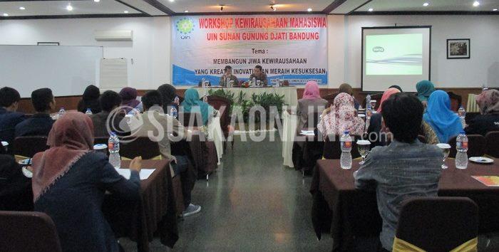 UIN SGD Bandung menggelar Workshop Kewirausahaan Mahasiswa yang digelar di Puteri Gunung Hotel Lembang pada 9-10 Oktober 2015 (Anjar Martiana/Suaka)