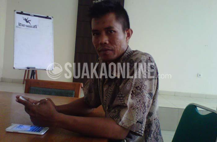 Ketua Serikat Pekerja Mandiri Bersatu (SPMB), Asep Mulyadi. (SUAKA/Isma Dwi).