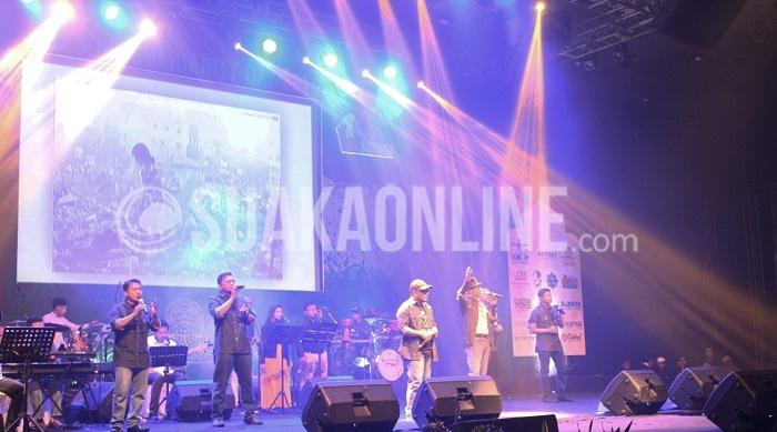 Penampilan Nasyid Shoutul Harakah di acara Internasional Palestine Solidarity Day yang digelar oleh Komite Nasional Rakyat Palestina (KNRP) Jawa Barat